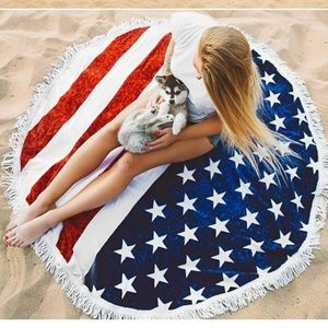 Other - American Flag Microfiber Beach Roundie